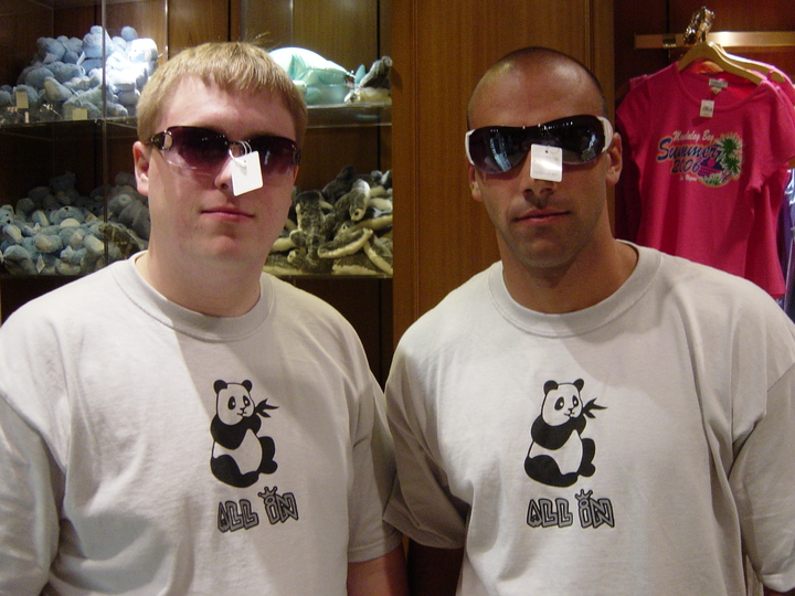 Dumpy And G Licks In Their Bachelor Party Custom Ink Tee's T-Shirt Photo
