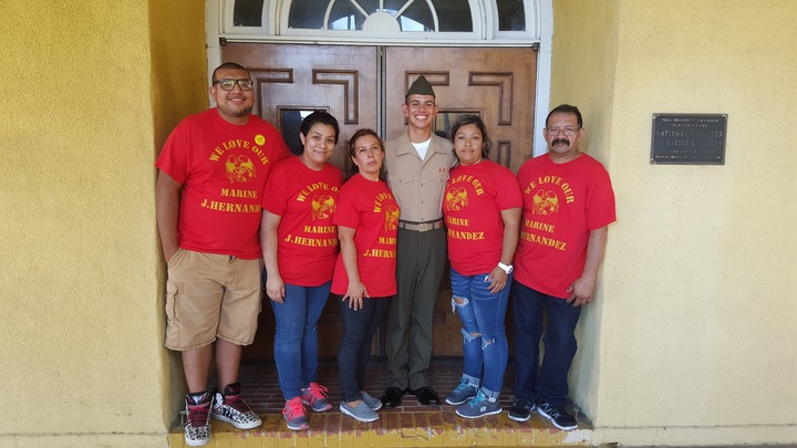 We Love Our Marine! T-Shirt Photo