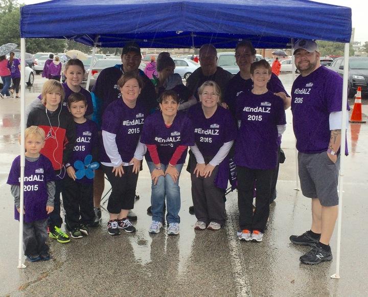 Team Pss At The Alzheimer's Walk   Fort Worth, Tx T-Shirt Photo