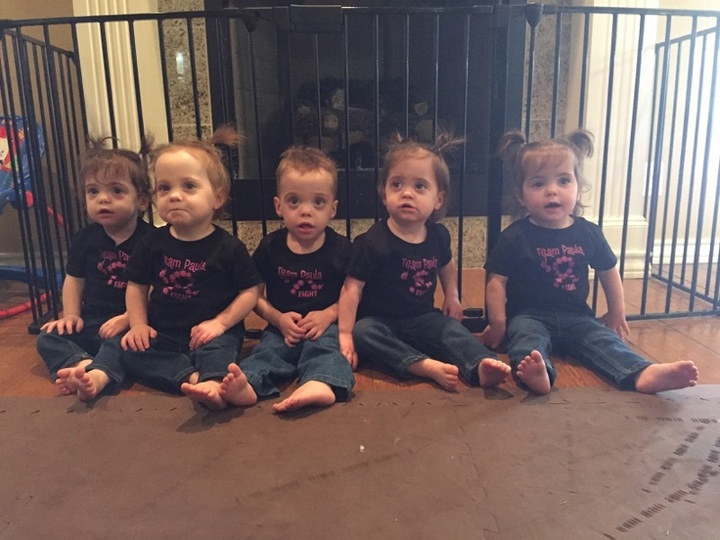 Fab 5 Quintuplets For Team Paula T-Shirt Photo