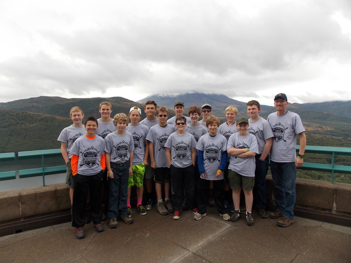 Boy Scouts Summit And Learn About Volcano T-Shirt Photo
