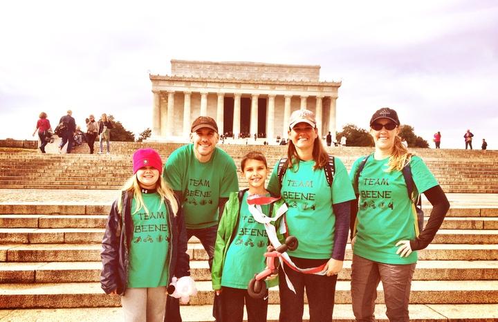 Team Beene At The Als Walk T-Shirt Photo