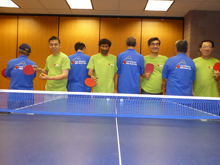 Los Alamos Table Tennis Club T-Shirt Photo