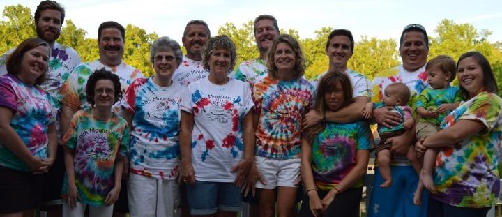 Tie Dyeing At Smith Mountain Lake Va T-Shirt Photo