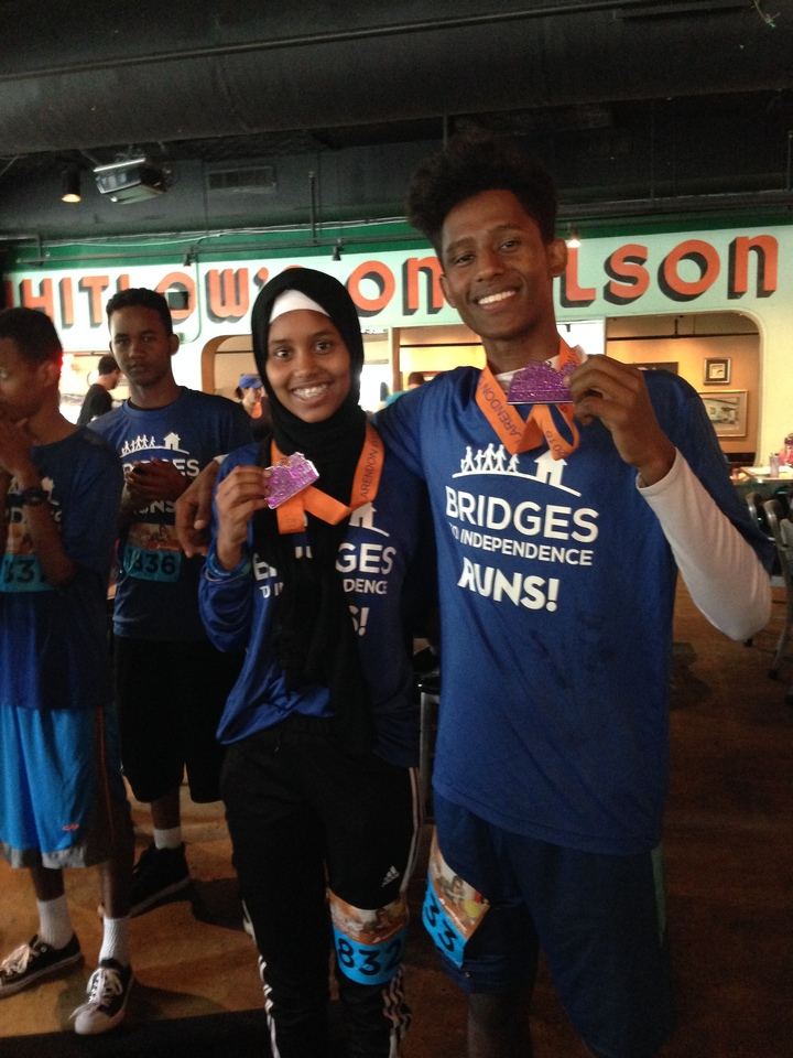 Bridges To Independence Runs And Wins! T-Shirt Photo