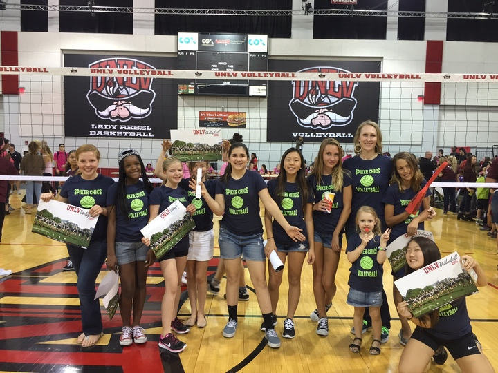 Spiker Chics Ssupport Unlv Volleyball Team T-Shirt Photo