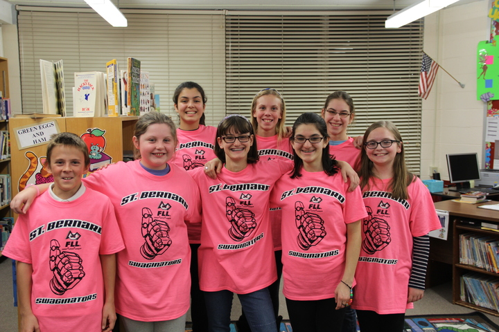 St. Bernard Swaginators Robotics Team T-Shirt Photo