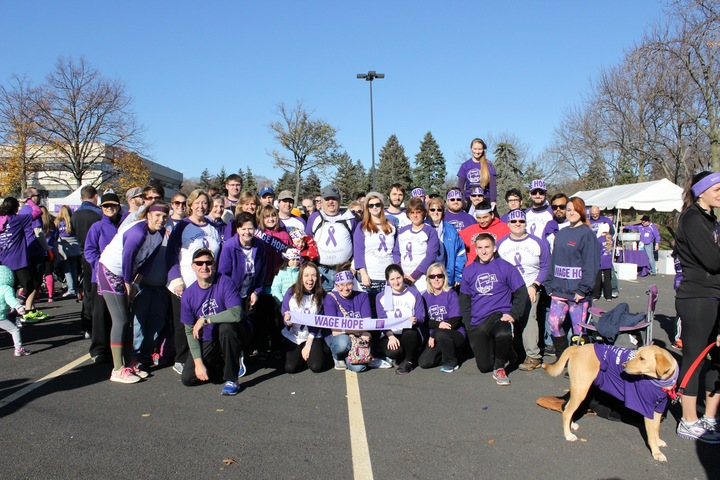 Pursell's Pack   Nj Purple Stride 2015 T-Shirt Photo