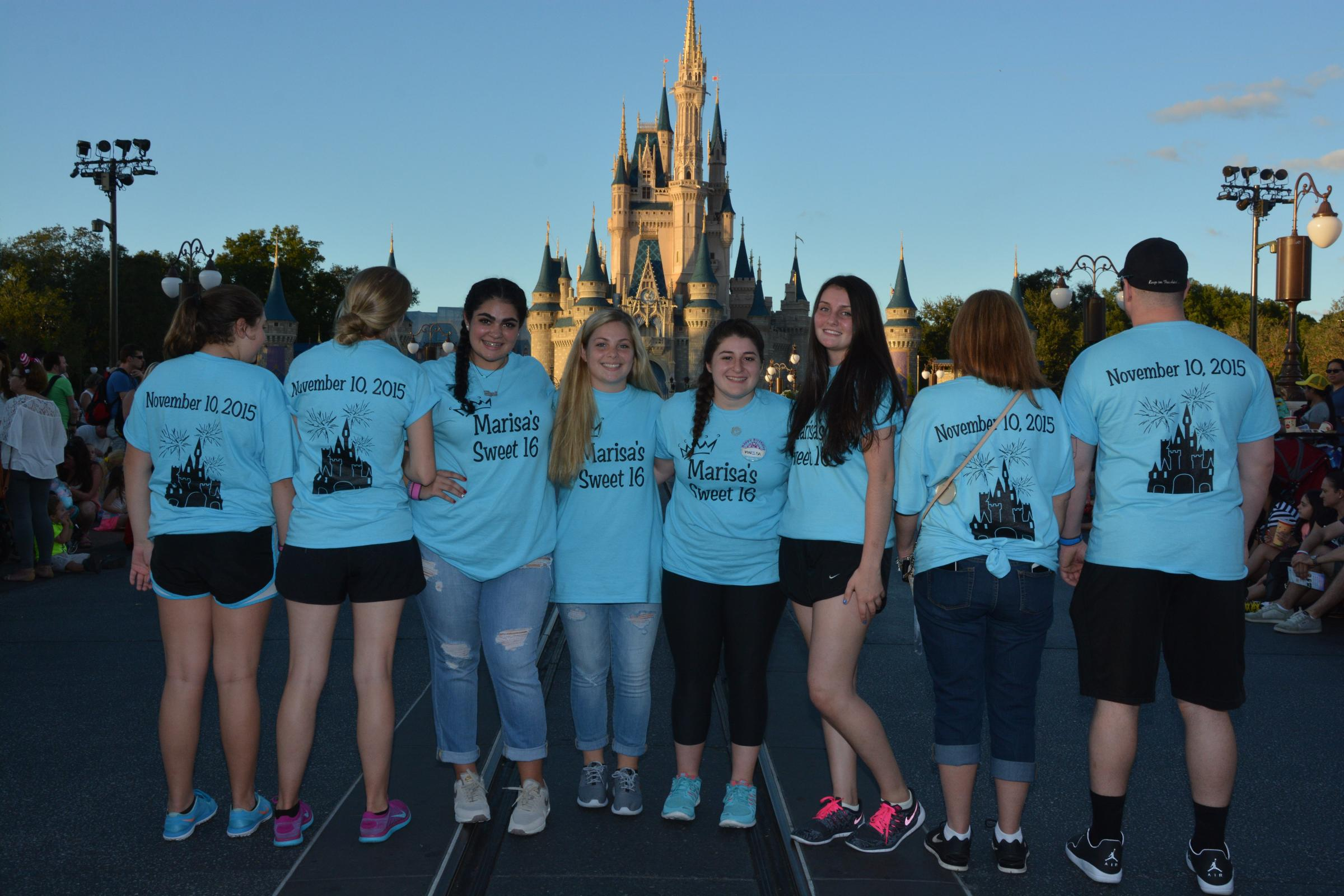 Custom T Shirts For Disney Marisa S Sweet 16 Shirt