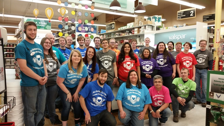 Ace Hardware & Paint Of Laramie Team Members T-Shirt Photo