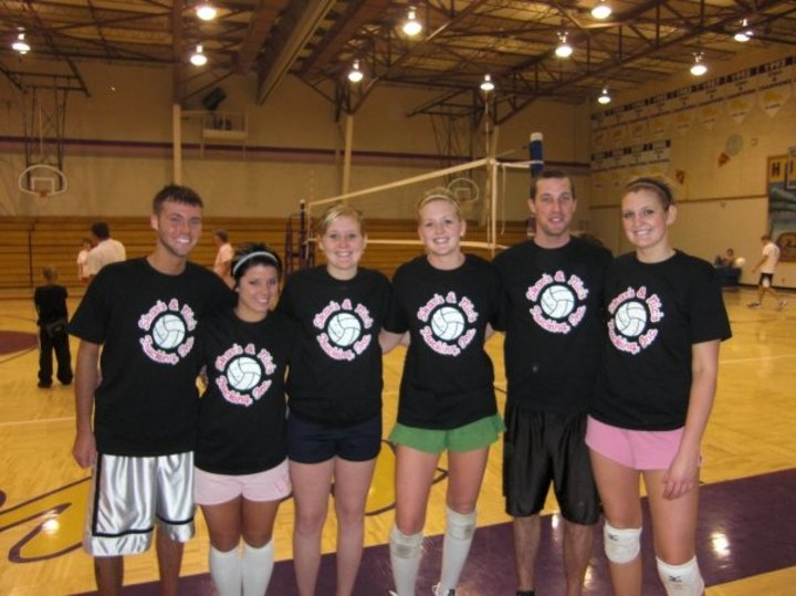 Skar's & Nic's Trucking Inc. Coed Volleyball Team T-Shirt Photo