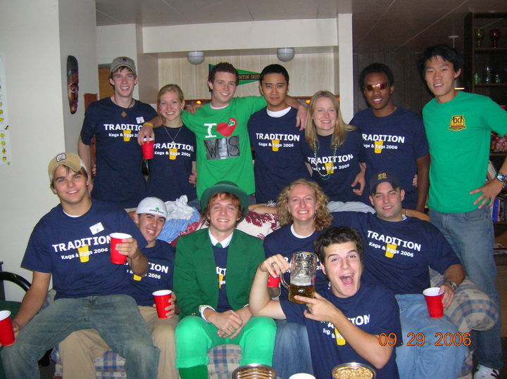 Football Pregaming   Notre Dame Kegs & Eggs T-Shirt Photo