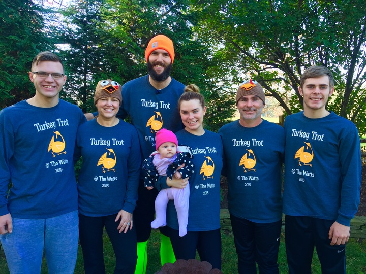 Wright/Coomes/Watts Family Thanksgiving Trot T-Shirt Photo