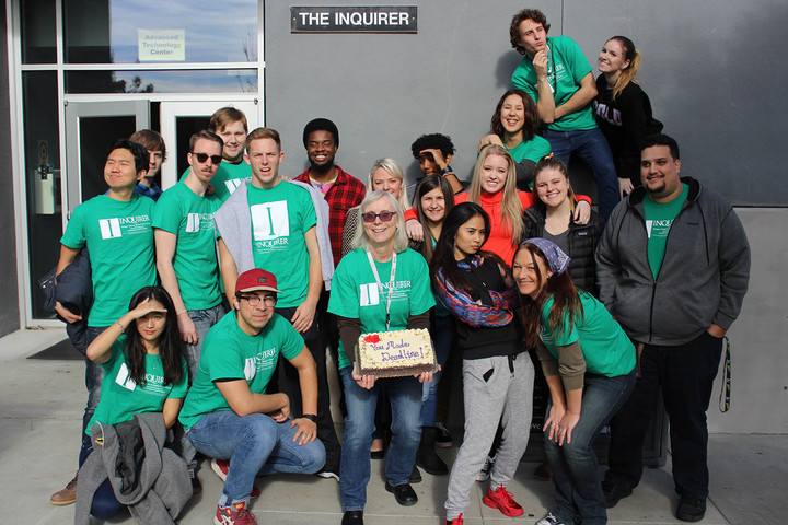 The Diablo Valley College Inquirer Fall 2015 Staff T-Shirt Photo
