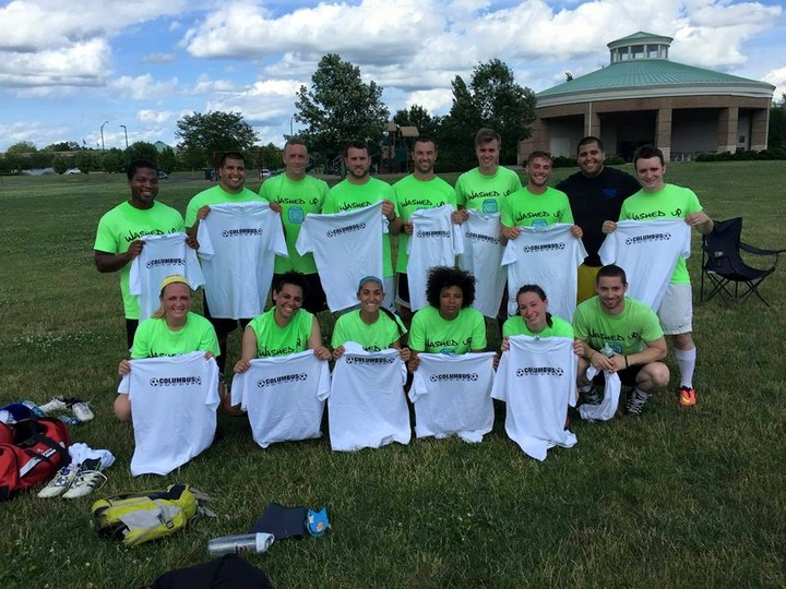 6th Time Co Ed Ssoccer Champions!! T-Shirt Photo