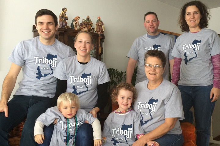 Triboji Beach Family Photo T-Shirt Photo