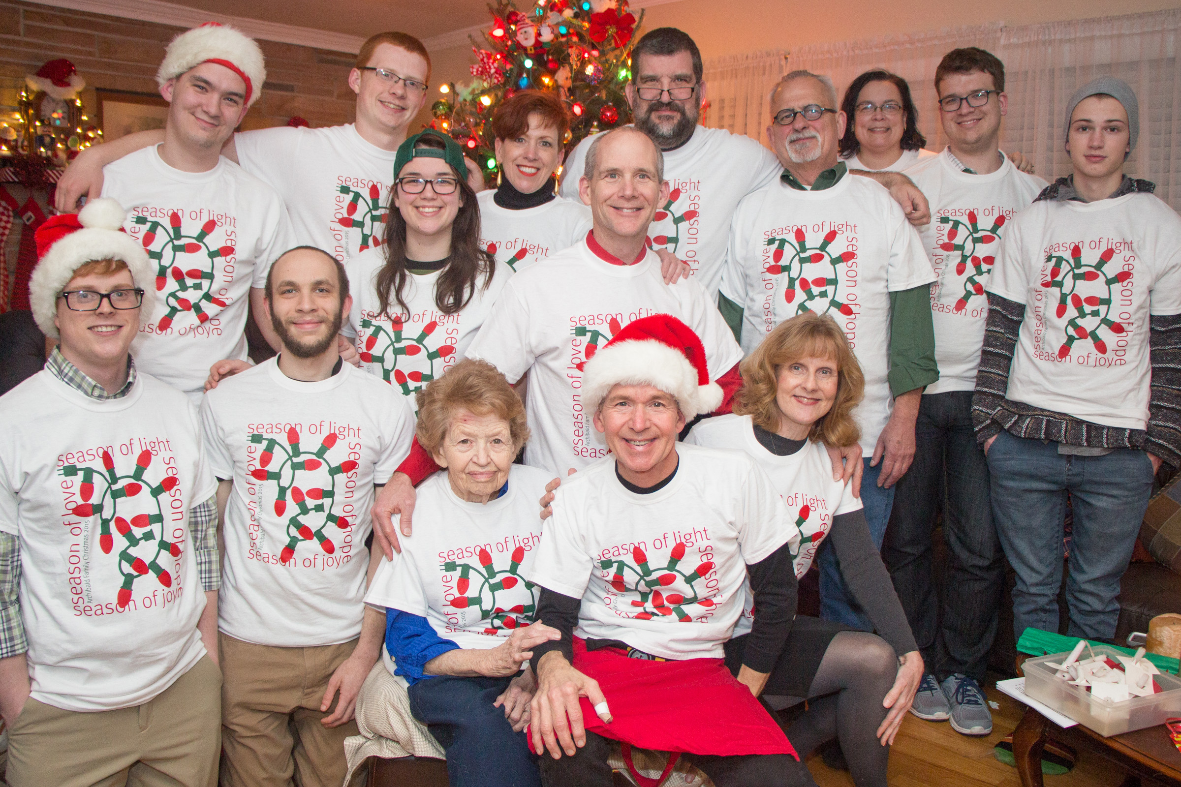 Archibald Family Christmas 2015 T Shirt Photo