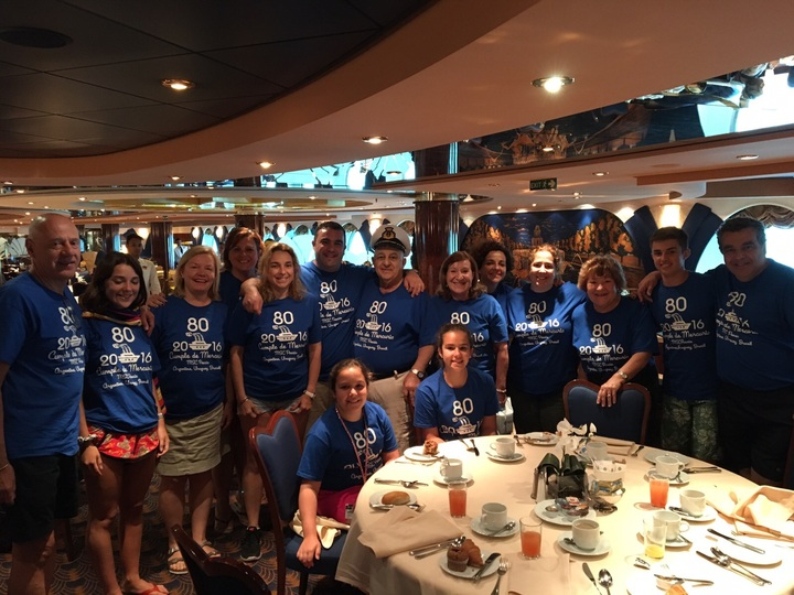 80th Birthday Family Cruise T-Shirt Photo