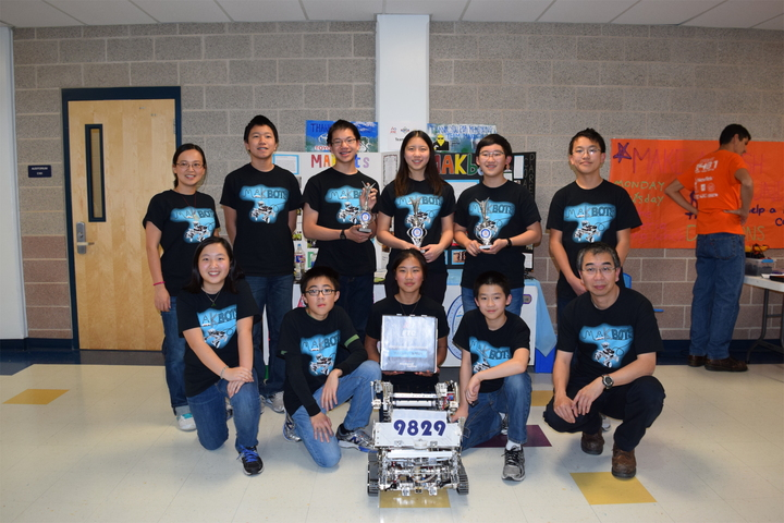 Team Mak Bots And Our Robot T-Shirt Photo