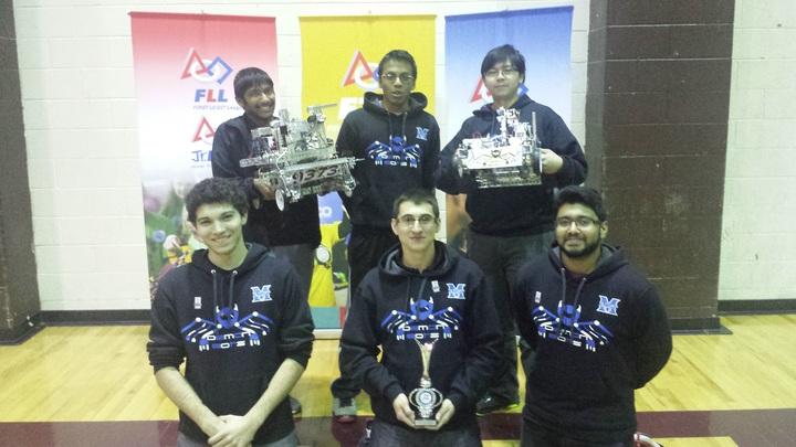 Winning A Robotics Design Award While Rocking Team Hoodies T-Shirt Photo