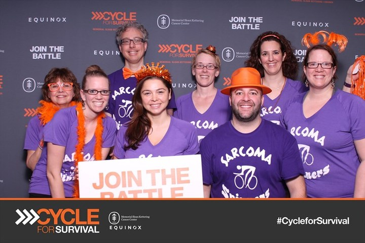 Kelli's Sarcoma Spinners At Cycle For Survival In Chicago T-Shirt Photo