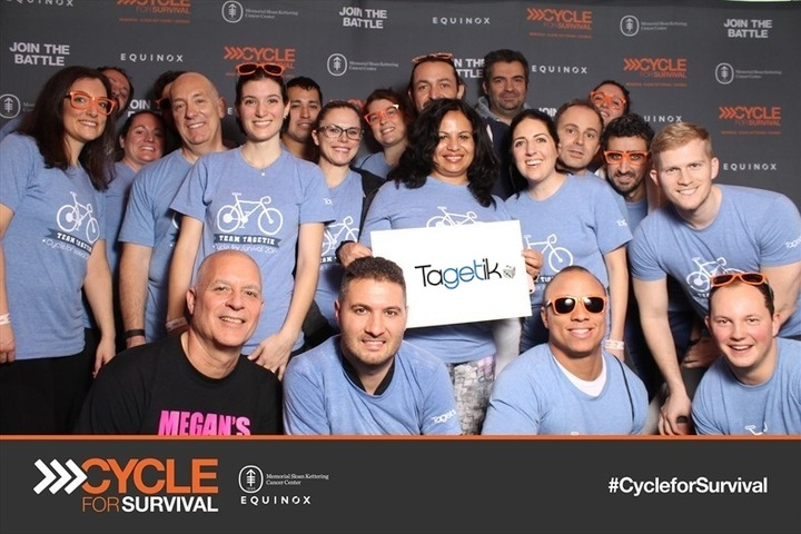 Team Tagetik Rides To Fight Cancer!  T-Shirt Photo