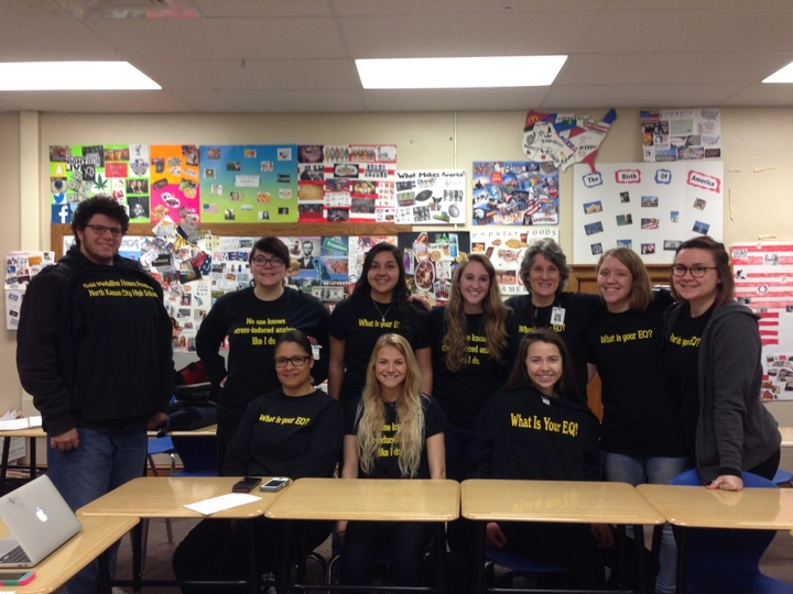 Gold Medallion Block 1 Being Serious T-Shirt Photo