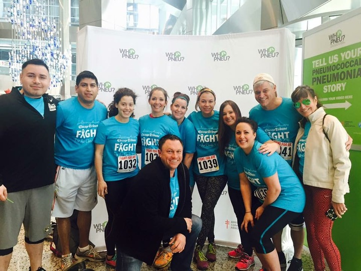 Our Chicago Tribune Team For The 2016 Ala Climb For Air Chicago T-Shirt Photo