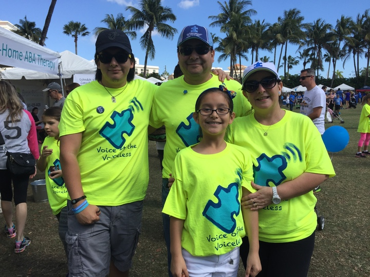 At The Autism Walk Palm Beach T-Shirt Photo