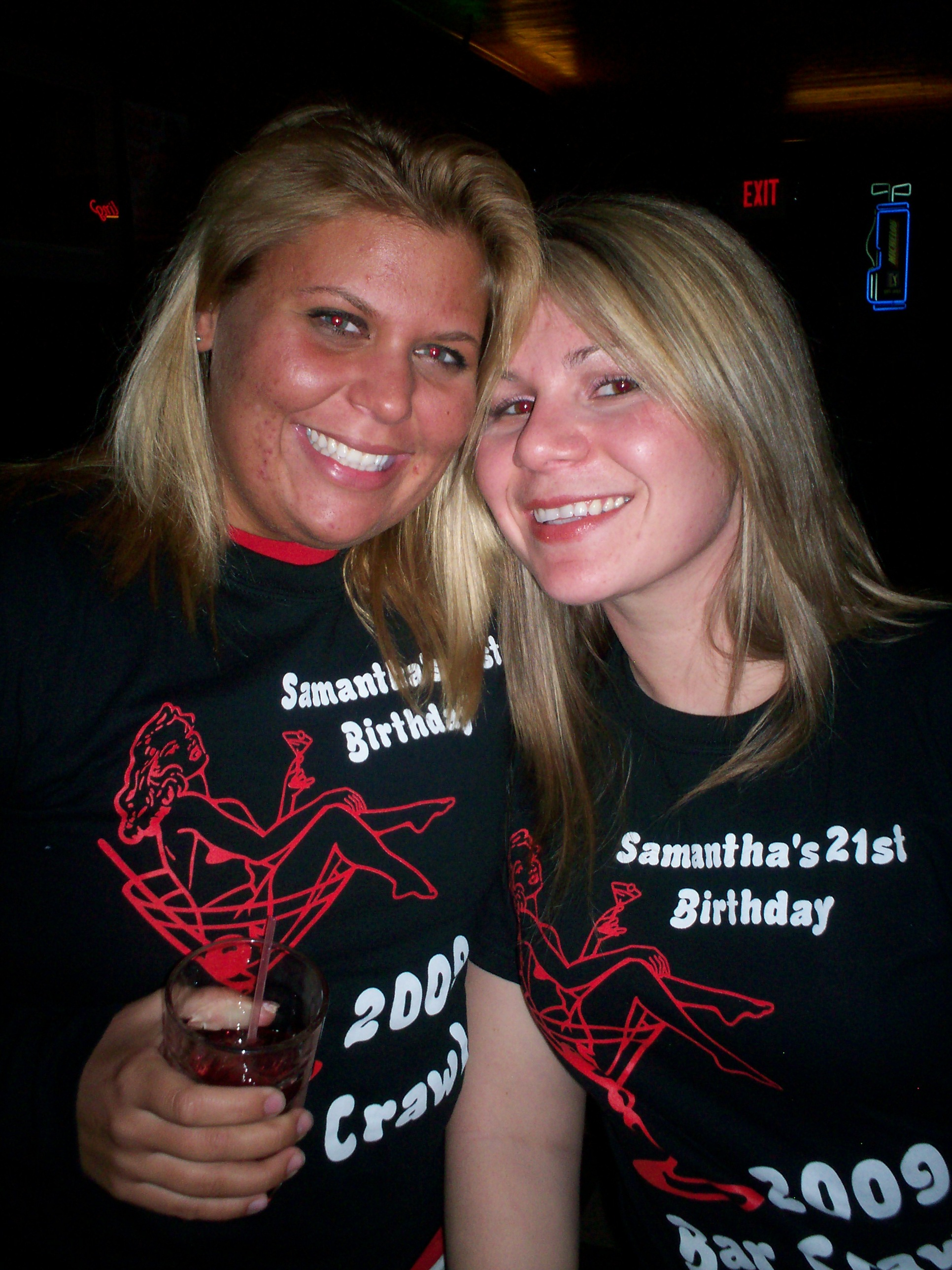 Samanthas 21st Birthday Bar Crawl T Shirt Photo
