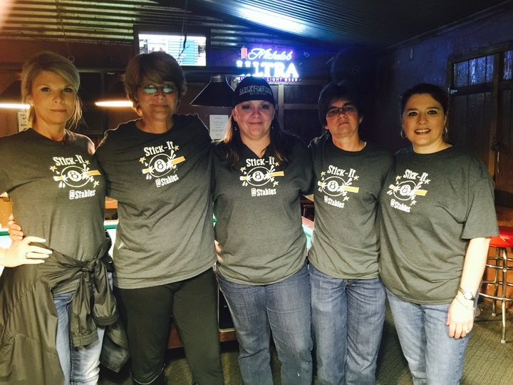 Stick It   Ladies 8 Ball Team T-Shirt Photo