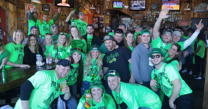 Pub Crawl  Team Chugg Norris T-Shirt Photo