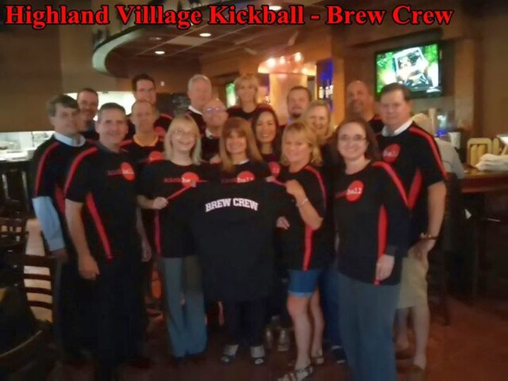 Highland Village Kickball   Brew Crew T-Shirt Photo
