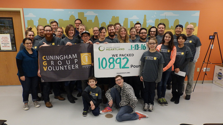 Cuningham Group Volunteers @ Second Harvest T-Shirt Photo
