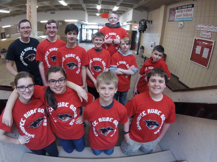 Shakopee East Jr High Rube Goldberg Team (Mn) T-Shirt Photo