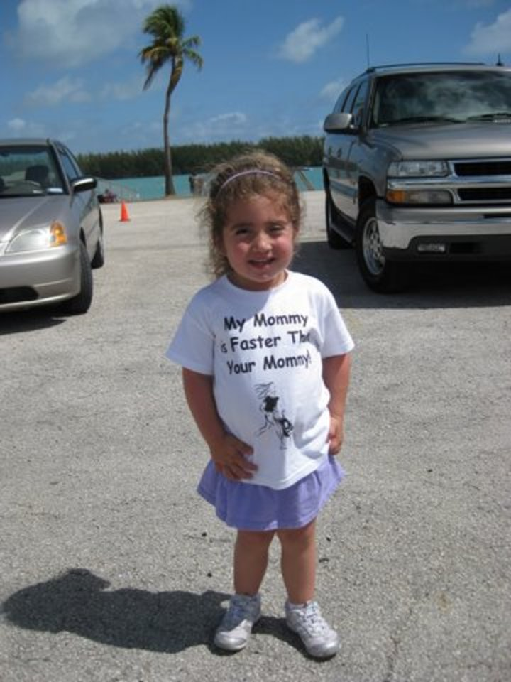 """""""My Mommy Is Faster Than Your Mommy!"""" T-Shirt Photo"""