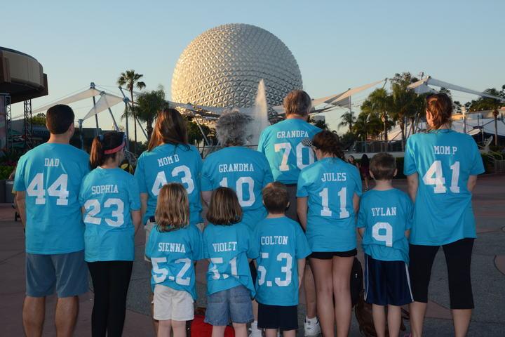 Le Comte Family Vs. Disney, 2016 (At Epcot) T-Shirt Photo