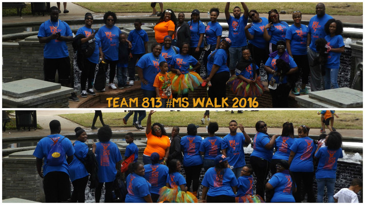 Team 813 #Ms Walk 2016 T-Shirt Photo