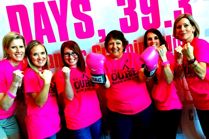 Team Courage Fighting Against Breast Cancer! T-Shirt Photo