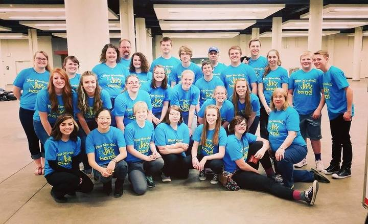 West Marshall Jazz Band Makes State Championships! T-Shirt Photo