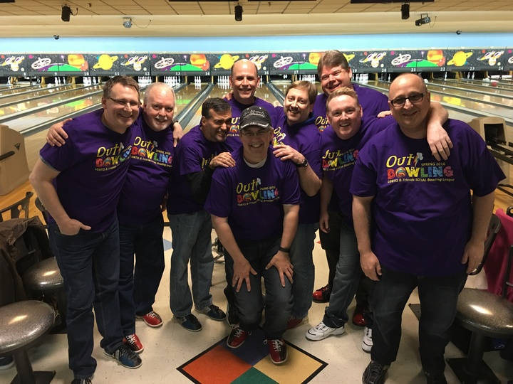 Out Bowlers Loving Their New Shirts!! T-Shirt Photo