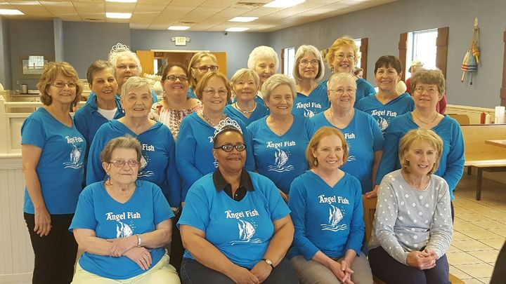 Angel Fish Gather For Fun Lunch Every Month! T-Shirt Photo