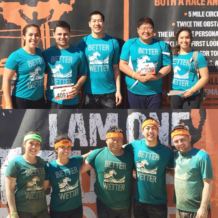 Tough Mudder Los Angeles   Team Better Wetter! T-Shirt Photo
