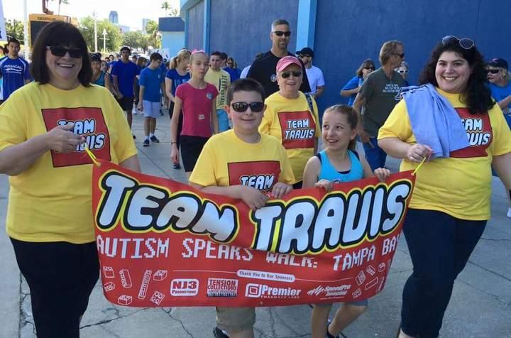 Team Travis At The Autism Walk: Tampa Bay  T-Shirt Photo