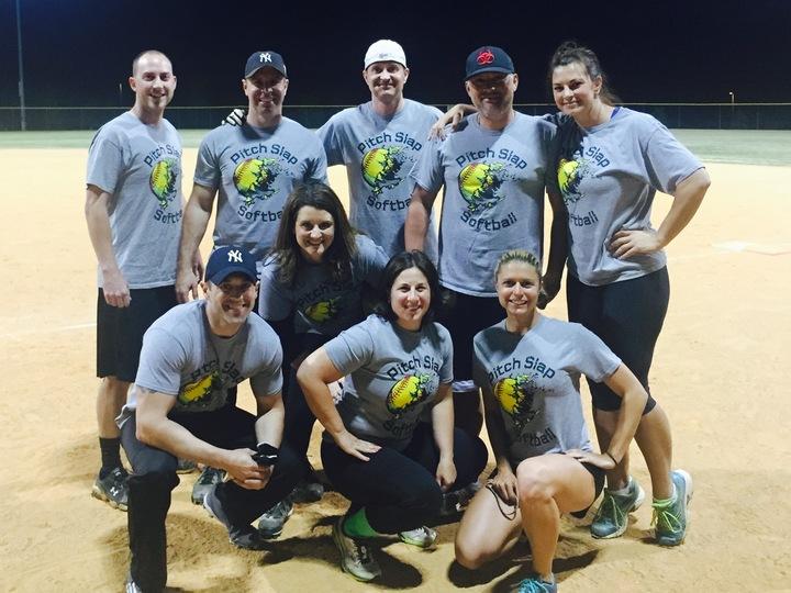 Pitch Slap Softball Takes The Field T-Shirt Photo