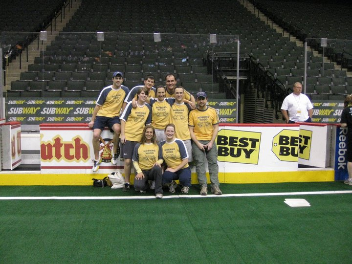 Morning Wood Kickball Plays At The Xcel Energy Center T-Shirt Photo