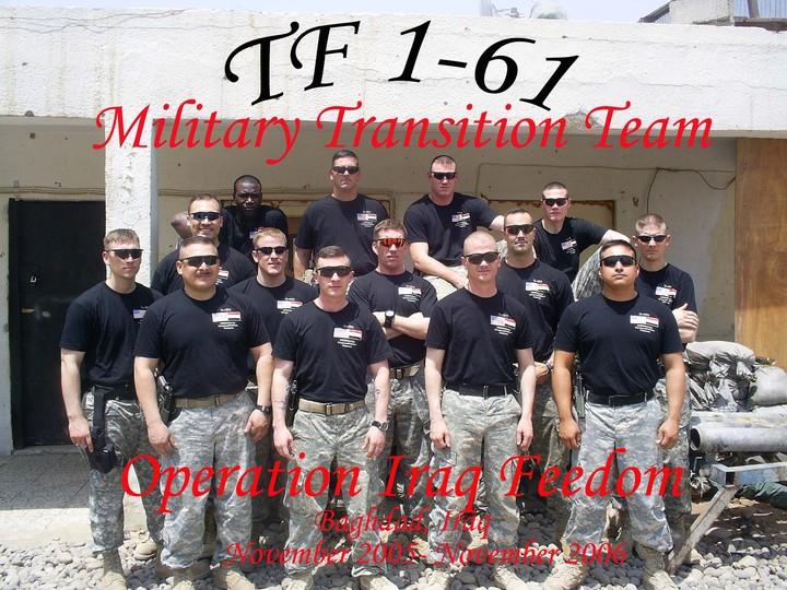 Task Force 1 61, Baghdad Iraq T-Shirt Photo