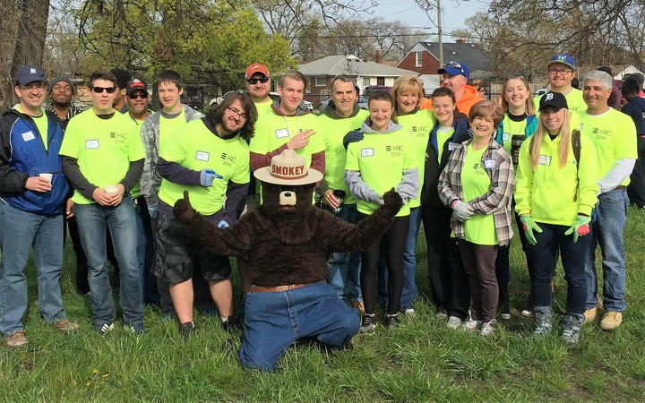 Detroit Tree Planting W/ Smokey The Bear T-Shirt Photo