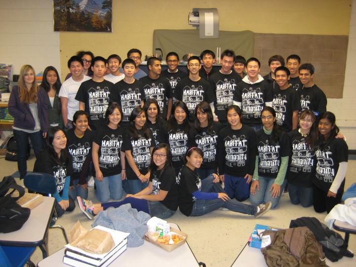 Irvington High School's Habitat For Humanity Club! T-Shirt Photo