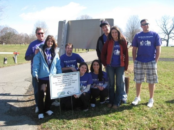 Lyme Disease Awarness Walk Strides For Strength T-Shirt Photo